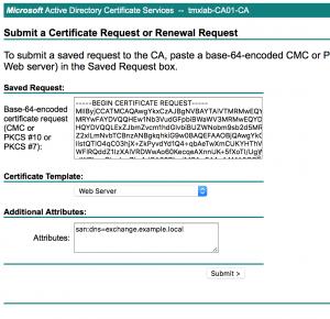 Microsoft CA - SAN Zertifikat