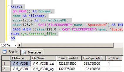 vCenter MSSQL Express